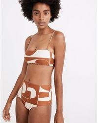 MW Madewell Second Wave Retro High-waisted Bikini Bottom In Shape Series - Multicolour