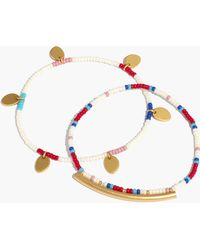 Madewell - Two-pack Seed Bead Charm Bracelets - Lyst