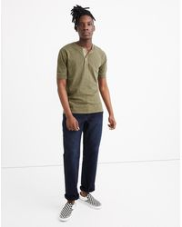 MW Garment-dyed Henley Tee - Multicolour