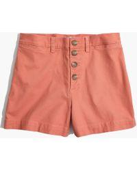 Madewell - Emmett Button-front Shorts - Lyst
