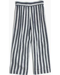 Madewell - Huston Pull-on Crop Trousers In Stripe - Lyst