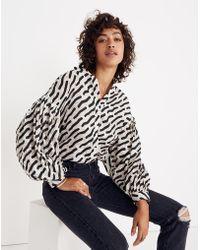c0d6fcc4 Whit® Neely Shirt In Scribble Dot Print - Blue