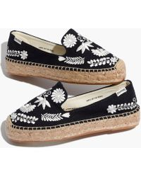 Madewell - Soludos® Embroidered Ibiza Smoking Slippers - Lyst