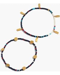 Madewell - Two-pack Beaded Bracelets - Lyst