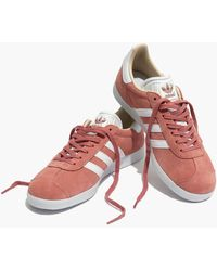 Madewell - Adidas Gazelle Lace-up Trainers - Lyst