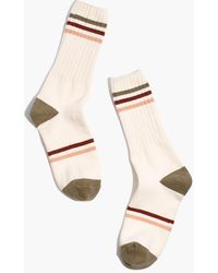 MW Rainbow Varsity Stripe Trouser Socks - Natural