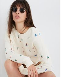 9f435bfd1e4 Madewell - Lei-cation Embroidered Mainstay Sweatshirt - Lyst