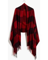 Madewell Buffalo Check Cape Scarf - Red