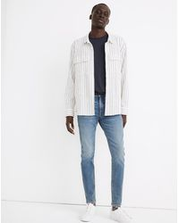 MW Skinny Authentic Flex Jeans In Baxendale Wash - Blue