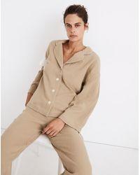 MW Double-gauze Oversized Pyjama Shirt - Natural