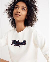 Madewell - Embroidered Varsity Sweatshirt - Lyst