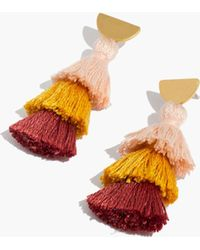 Madewell - Tiered Tassel Earrings - Lyst