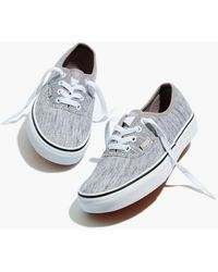 MW Vans® Unisex Authentic Lace-up Sneakers In Grey Rib
