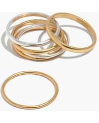 Madewell - Delicate Stacking Ring Set - Lyst