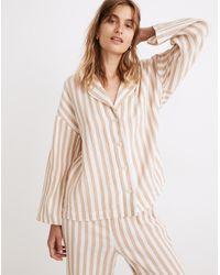 MW Striped Double-gauze Oversized Pyjama Shirt - Multicolour
