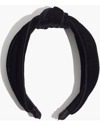 Madewell Velvet Knotted Covered Headband - Black