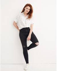 "MW Tall 9"" Mid-rise Skinny Jeans In Black Sea"