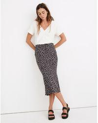 MW Drawstring Midi Slip Skirt In Sweet Floral - Multicolor