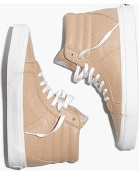 5a1f87e6c60 Madewell - Vans Unisex Sk8-hi Reissue High-top Sneakers In Sesame Leather -