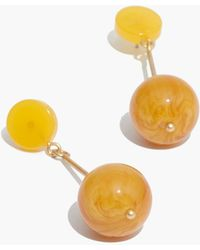 Madewell - Curveball Drop Earrings - Lyst