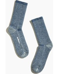 MW Drutherstm Merino Wool House Socks - Blue