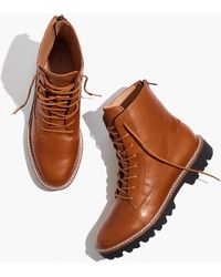 MW The Citywalk Lugsole Lace-up Boot In Leather - Brown