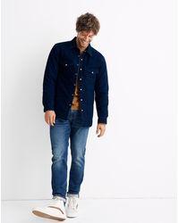 MW Quilted Indigo Shirt-jacket - Blue