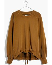 Madewell - Bubble-sleeve Drawstring Sweatshirt - Lyst