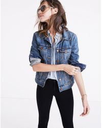 Madewell The Petite Jean Jacket In Pinter Wash - Blue