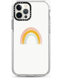MW Casetify Impact Rainbow Iphone® Case - White