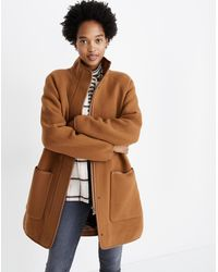 Madewell Estate Cocoon Coat - Brown