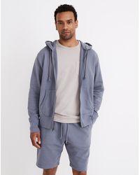 MW Retrolight Terry Hoodie Zip-front Sweatshirt - Blue