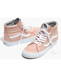 Madewell - Vans® Unisex Sk8-hi Reissue High-top Trainers In Oxford Pink Leather - Lyst