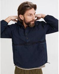 MW Indigo Windbreaker Pullover Jacket - Blue