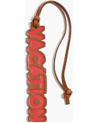 Madewell Leather Vacation Bag Tag - Red