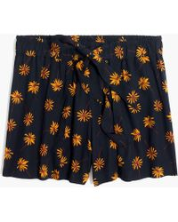 Madewell - Pull-on Tie Shorts In Fresh Daisies - Lyst