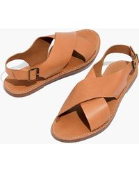 Madewell - The Boardwalk Crossover Sandal - Lyst