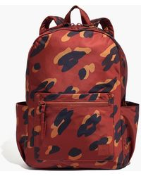 MW The (re)sourced Backpack In Painted Leopard - Red