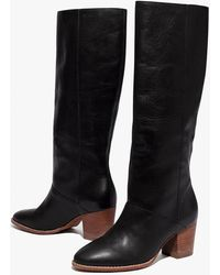 MW The Kiki Knee-high Boot With Extended Calf - Black