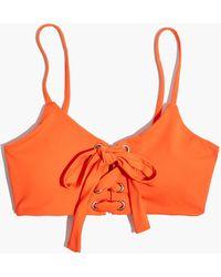 Madewell - Mara Hoffman Scarlett Lace-up Bikini Top - Lyst