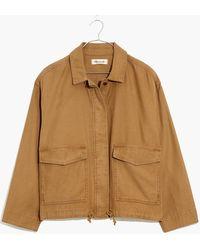 MW Drawstring Military Shirt Jacket - Brown