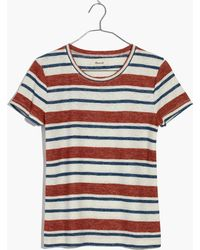 Madewell - Hi-fi Shrunken Tee In Mary-lou Stripe - Lyst