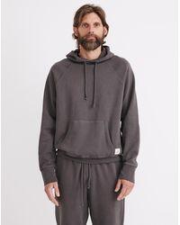 MW Retrolight Terry Hoodie Pullover Sweatshirt - Black