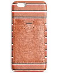 Madewell - Leather Carryall Case For Iphone® 6 In Stripe - Lyst