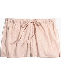 Madewell - Bedtime Pajama Shorts In Crescent Moon - Lyst