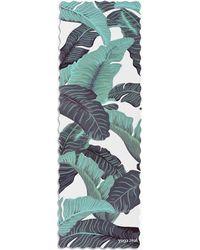 MW Yoga Zeal Tropical Banana Leaf Wavy Mat - Green