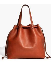 Madewell - The Drawstring Transport Tote - Lyst