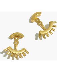 MW Front-back Succulent Earrings - Metallic