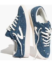 Tretorn - ® Nylite Plus Trainers In Paint-spattered Denim - Lyst