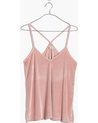 Madewell | Velvet Pyjama Cami Top | Lyst